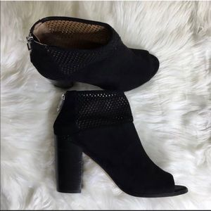 Report Black Suede Perforated Shooties
